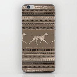Azawakh Sighthound on African Pattern iPhone Skin