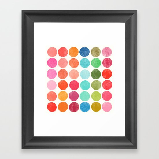 colorplay 5 Framed Art Print