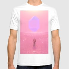 Lost Astronaut Series #03 - Floating Crystal White MEDIUM Mens Fitted Tee