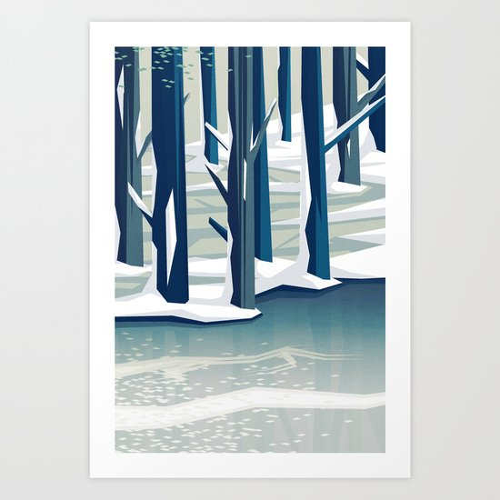 Spring was coming Art Print