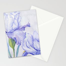 Watercolor Iris Stationery Cards