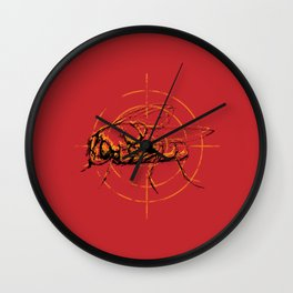 Fly on target Wall Clock
