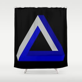 Impossible Triangle Shower Curtain