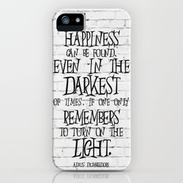 Albus Dumbledore Quote Inspirational iPhone Case
