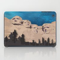 rushmore iPad Cases featuring Night Mountains No. 15 by Bakmann Art