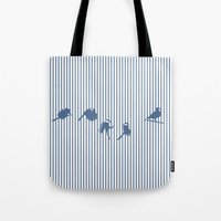 cage Tote Bags featuring Hidden cage by Aneesh vini