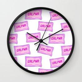 #GRLPWR Girl power White Wall Clock