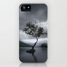 Lone Tree - Snowdonia iPhone Case