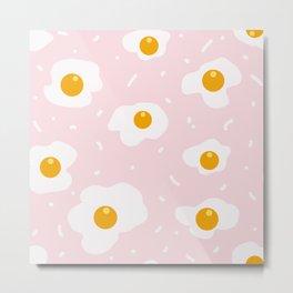 Fried Eggs Seamless Pattern Metal Print