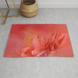 Salmon Hibiscus 3 - Floral Rug