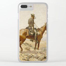 Frederic Remington - The Lookout Clear iPhone Case