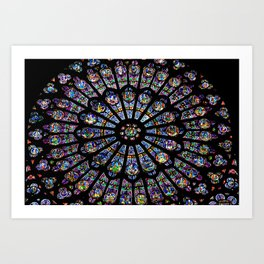 Notre Dame stained glass Art Print