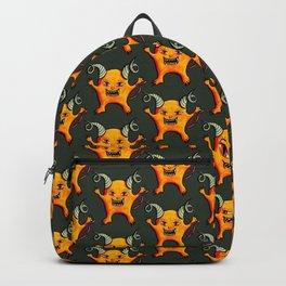 Cute Weird Horned Little Devil Creature Backpack