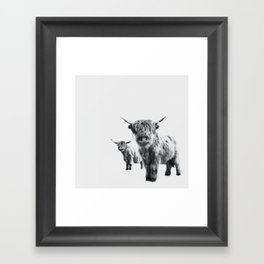 HIGHLAND COW - LULU & SARA Framed Art Print