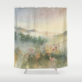 A New Mexico Foothill Spring Shower Curtain