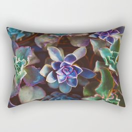 Succulent Garden Pattern (Color) Rectangular Pillow