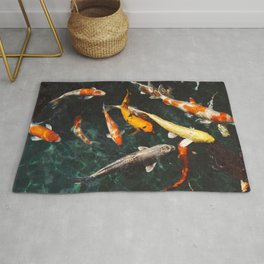 Geometric Koi Fishes Rug