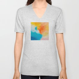 Endless Summer Abstract Painting Unisex V-Neck