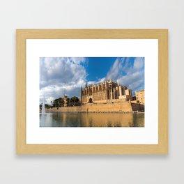 Cathedral of Palma de Mallorca Golden hour Timelapse Framed Art Print