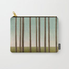 tree trunks and field in forest Carry-All Pouch