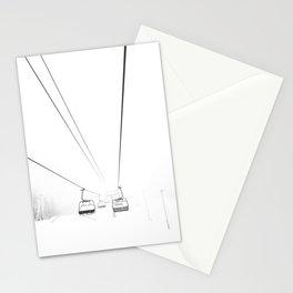 Ski Lift Art, Winter Wall Art, Minimalist Wall Art Stationery Cards