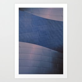 Blue and Rose architectural abstract of the home to the LA Philharmonic. Architect: Frank Gehry Art Print
