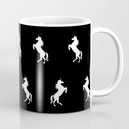 Black And White Unicorns Coffee Mug