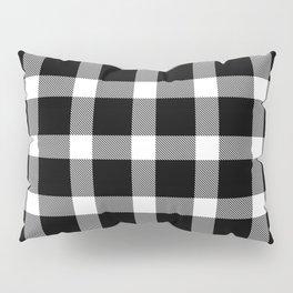 Plaid Dark Black Pillow Sham