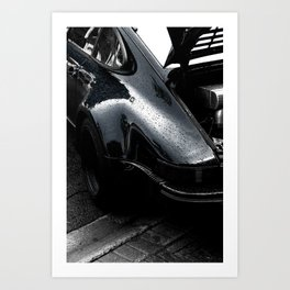 The Drivers' Car. Art Print