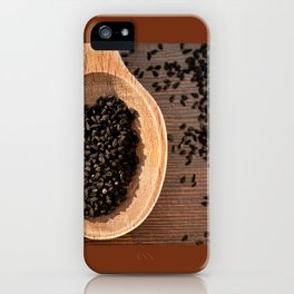 Black Nigella Sativa dry seeds portion iPhone Case