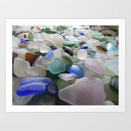 Sea Glass Assortment 6 Art Print
