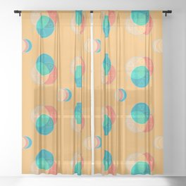 Cute Color Wheel Seamless Pattern Sheer Curtain