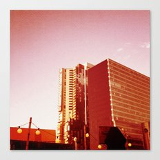 City Rooftop Canvas Print