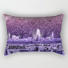 cleveland city skyline Rectangular Pillow