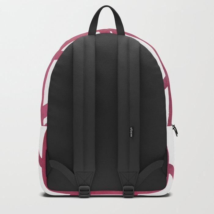 Maroon skyscraper pattern Backpack