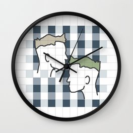 Life in gingham Wall Clock