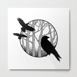 Black Birds II Metal Print