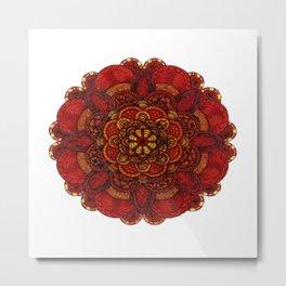 Chrysanthemum in lace Metal Print