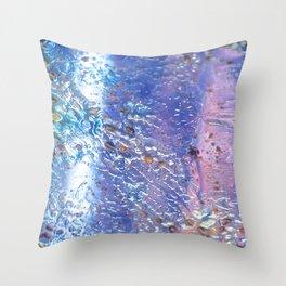 Raindrops on Glass Throw Pillow