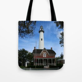 ST. SIMONS LIGHTHOUSE - Golden Isles Tote Bag
