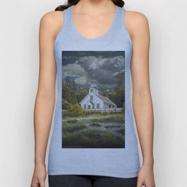Old Mission Point Lighthouse in Early Autumn Unisex Tank Top