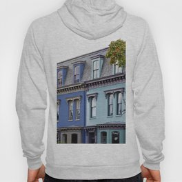 Row houses located near intersection of 5th Street and Independence Avenue SE Washington DC Hoody