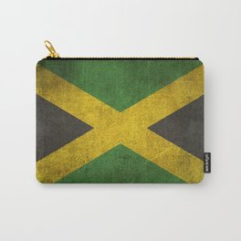 Old and Worn Distressed Vintage Flag of Jamaica Carry-All Pouch