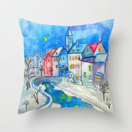 WINTER TALES Throw Pillow