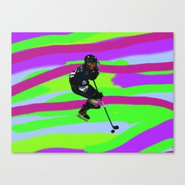 Taking Control- Ice Hockey Player & Puck Canvas Print