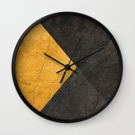 Yellow and Grey - Triangle Wall Clock