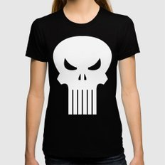 One Dollar Punisher Black MEDIUM Womens Fitted Tee