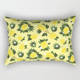 Summer Lemons - Cute Pattern Rectangular Pillow