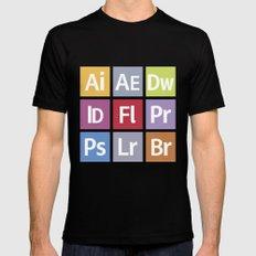 Adobe Icons Mens Fitted Tee Black MEDIUM