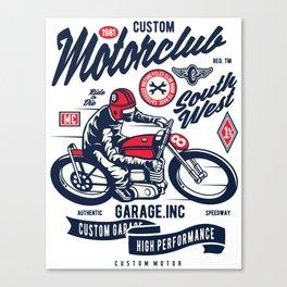 Garage inc - Motor club South West Canvas Print